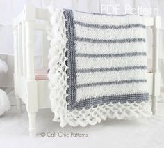 Cali Chic Patterns - Crystal Lace - Knit Baby Blanket PATTERN 68, $5.00 (http://www.calichicpatterns.com/crystal-lace-knit-baby-blanket-pattern-68/)