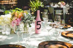 Deya + Kevin    Saddle Rock Ranch Wedding    Malibu, Ca — Irish Grzanich Photography rustic wedding tables