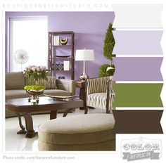 Green Color Palette with lavendar | Color Huespiration: Lavender Fields