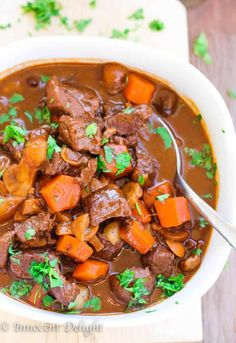 Moroccan Spiced Beef Stew - winter comfort food at its best with extra level of Moroccan flavors. Beef Tagine Recipes, Beef Recipes, Cooking Recipes, Healthy Recipes, Bariatric Recipes, Curry Recipes, Healthy Cooking, Soup Recipes, Healthy Food