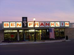 Ben Franklin stores. They had the coolest 80's stationary and knick knacks.