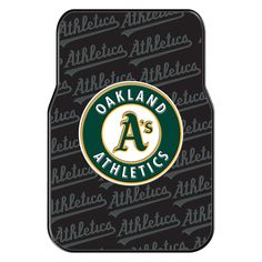 "Athletics OFFICIAL Major League Baseball, 25.5""x 17.5"" Car Floor Mat Set (Pair of 2) by The Northwest Company"