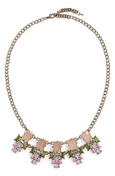 Rove + Pearl Geo Crystal Statement Necklace