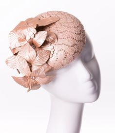 FASCINATOR fabric with feathers on a covered headband in 4 colours