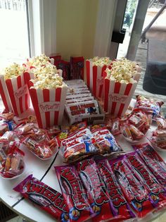 baseball theme party, concession stand snacks....I may do this for the boys bday party :)