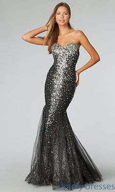 Prom Dresses, Celebrity Dresses, Sexy Evening Gowns - PromGirl: JVN by Jovani Floor Length Strapless Sweetheart Sequin Dress Prom Dresses Jovani, Pageant Dresses, Homecoming Dresses, Strapless Dress Formal, Evening Dresses, Bridesmaid Dresses, Formal Dresses, Dress Prom, Formal Prom