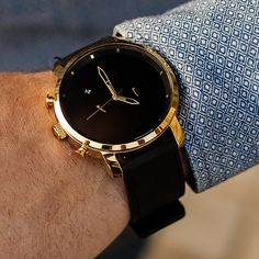 Vintage Watches Chrono Gold Black Leather - Looking for black and gold watches? Live life on your time with a watch that suites your dynamic lifestyle from work to play to adventures afar. Join the MVMT. G Shock Watches Mens, Rolex Watches For Men, Vintage Watches For Men, Luxury Watches For Men, Sport Watches, Cool Watches, Wrist Watches, Casual Watches, Male Watches