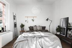 Bedroom in grey tones