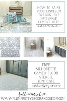 i stenciled my hallway ceramic tiles to add a sophisticated style