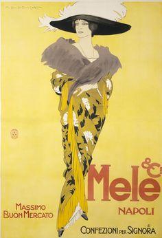 By Marcello Dudovich (1878-1962), 1913, Mele & Ci Napoli, Massimo Buon Mercato. (I)