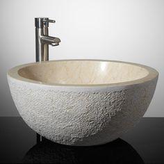 Delphine Marble Oval Vessel Sink