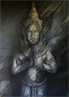ANOWI - Tempelwächter als Poster, Leinwand, Kunstdruck von ANOWI