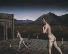 Paul Delvaux - The Lamps