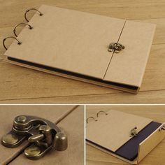 New arrival vintage paper handmade diy photo album lock multi purpose bag photo album $14.90