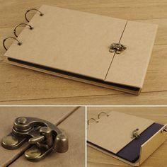 New arrival vintage paper handmade diy photo album lock multi purpose bag photo album $14.90