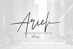 Ariel Signature Font by khurasan on @creativemarket