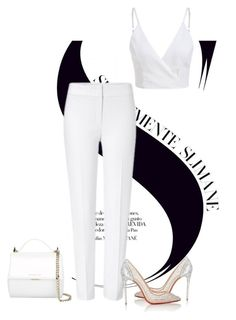 White party by marjanne-mestilainen on Polyvore featuring polyvore fashion style ESCADA Christian Louboutin Givenchy clothing white