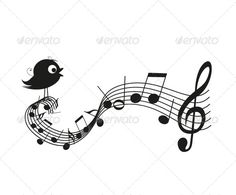Singing Bird ...  animal, bird, black, cartoon, classical template, clef, composition, concept, concert, creative, design, drawing, festival, funny, graphic, illustration, isolated, line, melody, music, musical, nature, note, notes, singing, song, songbird, symbol, vector, voice