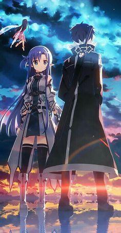 Asuna & kirito - ALF Sword Art Online, Online Art
