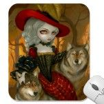 Loup-Garou: d'Automne gothic Wolf Rococo Mousepad by strangeling  Jasmine Becket-Griffith