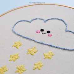 Hand Embroidery Patterns Free, Hand Embroidery Videos, Embroidery Sampler, Baby Embroidery, Flower Embroidery Designs, Simple Embroidery, Hand Embroidery Stitches, Embroidery Techniques, Cross Stitch Embroidery