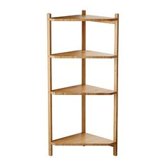 IKEA - RÅGRUND, Eckregal, , Bambus ist ein strapazierfähiges Naturmaterial.