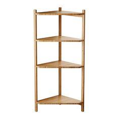 IKEA - RÅGRUND, Étagère d'angle, , Le bambou est un matériau naturel et résistant.