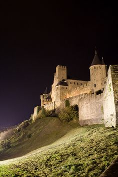 Carcassonne France - The largest medieval castle in Europe.  This was such an awesome place to walk around and explore!