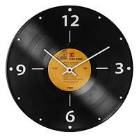 I love all the recycled album products....it would be very cool in a game room or near a record player & old albums. RECORD CLOCK|UncommonGoods