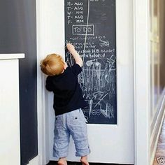 Children Kids Removable PVC Vinyl Blackboard Wall Stickers Chalkboard Decals 6L