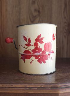 vintage flour sifter found at ForestDaydream on Etsy.