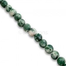 Tree Agate Stone Beads - 4mm   Price : $2.99