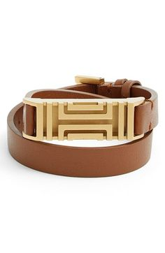 Tory Burch for Fitbit® Leather Wrap Bracelet | Nordstrom