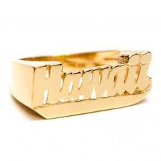 14k Solid Gold Hawaii  Ring