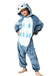 Pajamas For Kids Owl Flange Animal Onesie Kids Christmas – Lilacoo
