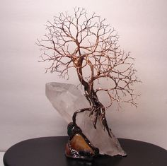 Wire Tree Of Life Spirits sculpture on natural by CrowsFeathers. $139.00, via Etsy.
