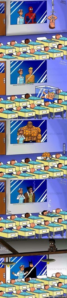 Superhero kids More memes, funny videos and pics on Bd Comics, Funny Comics, Marvel Vs, Marvel Dc Comics, Funny Jokes, Hilarious, It's Funny, Nananana Batman, Univers Dc