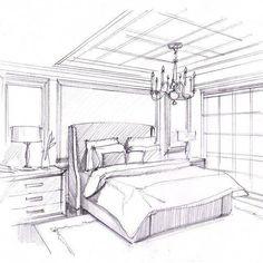 bedroom interior design drawing drawings in 2019 pinterest rh pinterest com