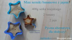 199. Mini sernik z serka wiejskiego- bananowy z jajem! - Niebieskoszara - fit blog młodej mamy