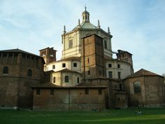 """Santa Maria delle Grazie, Milan, Lombardy, Italy.  Santa Maria delle Grazie (""""Holy Mary of Grace"""") is a church and Dominican convent in Milan, Lombardy, Italy, included in the UNESCO World Heritage sites list. The church contains the mural of the Last Supper by Leonardo da Vinci, which is in the refectory of the convent."""