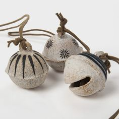Jingle Bell Ornament with Stars by Michele Quan | DARA Artisans