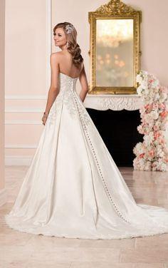 6306 Satin wedding dress with sweetheart neckline by Stella York