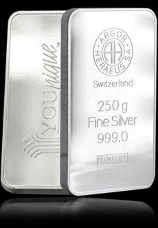 Herause .999 Fine Silver Bullio  250 Gram Bar. Difficult to find in Australia but worth the hunt!