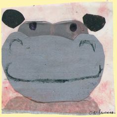 Hippo Canvas Art