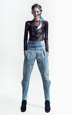 MEM RVT LIMIT pants | Weecos    The most ecological fashion collection in the world has been designed by Finnish Master Seamstress and recycle fashion designer Paula Malleus. MEM is made entirely from post consumer waste (old, second hand clothes - mainly jeans). The collection is available online at weecos.com.  MEM RVT17 (REVOLT2017) LOOKBOOK  Style: Paula Malleus  Photos: Kanerva Mantila Photography  Makeup: Meghna Mukherjee  Model: Sylvia Waltzer
