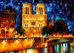 NOTRE DAME DE PARIS by Leonid Afremov #art #painting #gift #design #fineart…