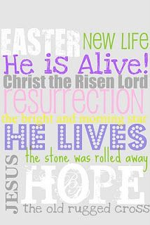 In the midst of all the colorful eggs, bunnies and jellybeans I created a Subway art to reflect what Easter means to me. I created these Subway Art pr… Project Life, Resurrection Day, He Has Risen, Old Rugged Cross, He Is Alive, Easter Printables, Free Printables, Printable Art, Printable Pictures