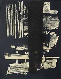 Untitled By Pierre Soulages