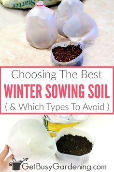 It's super important to use the right soil for winter sowing, otherwise the seeds may not grow. Learn how to choose the best soil (and what types to avoid). Garden Soil, Garden Seeds, Garden Care, Organic Vegetables, Growing Vegetables, Gardening For Beginners, Gardening Tips, Cold Climate Gardening, Diy Projects On A Budget