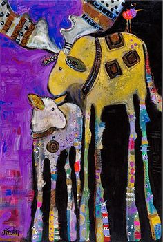 Jenny Foster - Paintings Collage, Modern Art, Contemporary Art, Abstract Animals, Reno, Native Art, Horse Art, Whimsical Art, Animal Paintings